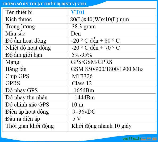 Thiết bị định vị xe máy VT01 giá siêu rẻ